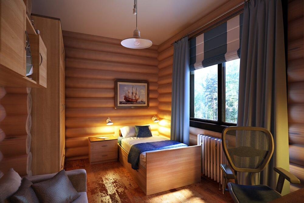 Детская в деревянном доме, абв интериорс, Артем Болдырев, abv interiors, a-b-v-interiors.ru, 3d визуализация, дизайн интерьера, офисные планировки, расстановка мебели, доработка идей, 3d концепция, планировка офисов, планировка офиса, дизайн гостиницы, дизайн интерьера деревянных домов, сруб, деревянная мебель,