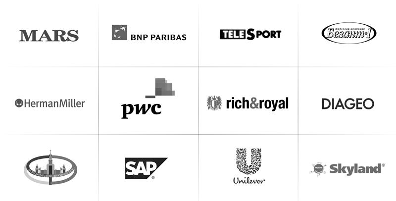 Логотипы клиентов дизайн интерьера 3d визуализация АБВ интериорс ABV Interiors