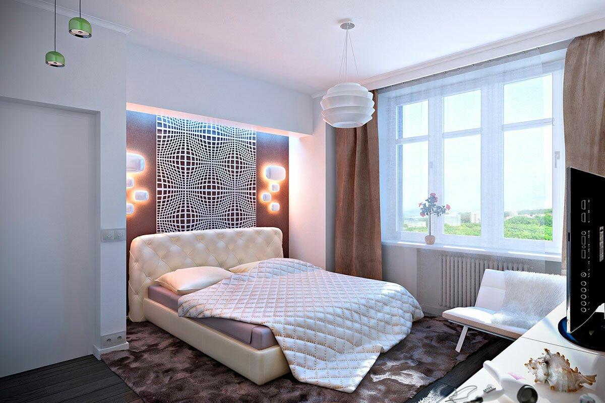 Дизайн интерьера спальни в стиле минимализм АБВ интериорс ABV Interiors Артем Болдырев