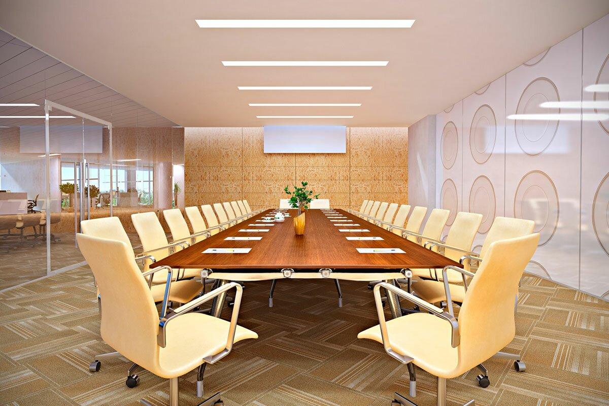 3d визуализация переговорной комнаты для компании Безант современный стиль meeting room АБВ интериорс ABV Interiors Артем Болдырев