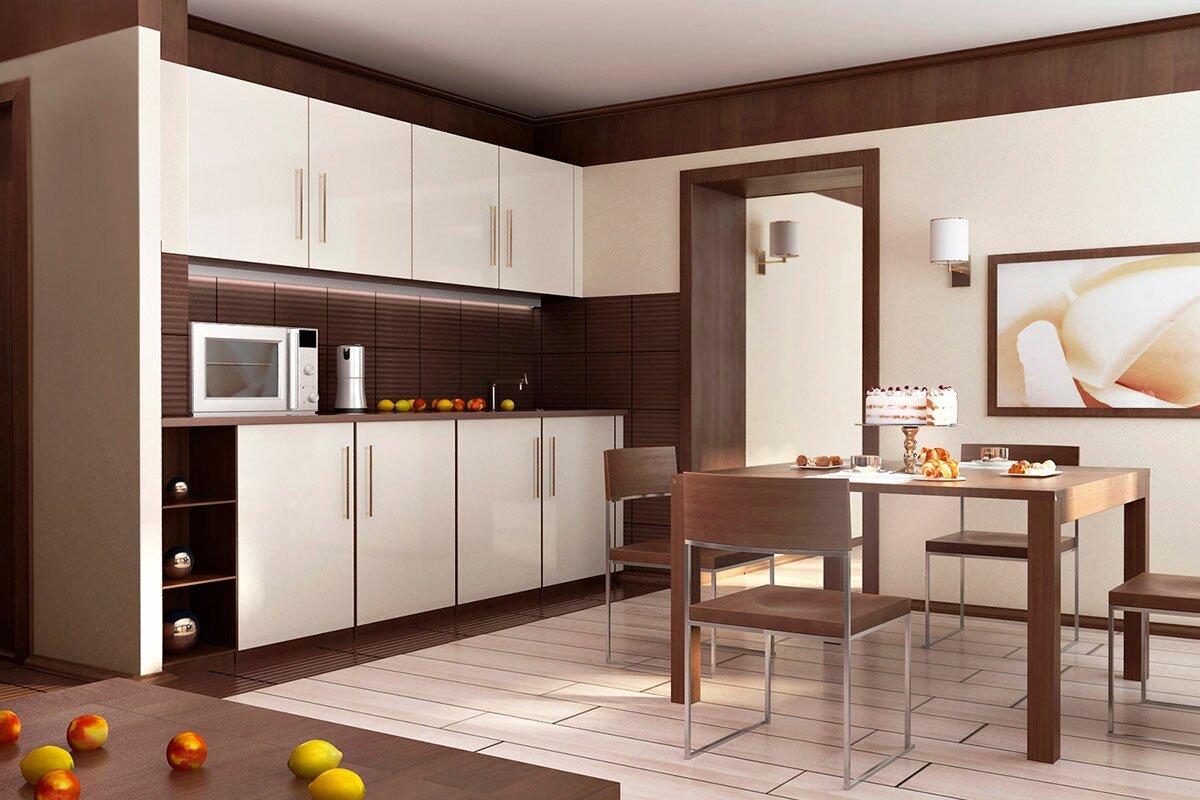Дизайн интерьера кухни в номере гостиницы Маяк, в современном стиле АБВ интериорс ABV Interiors Артем Болдырев