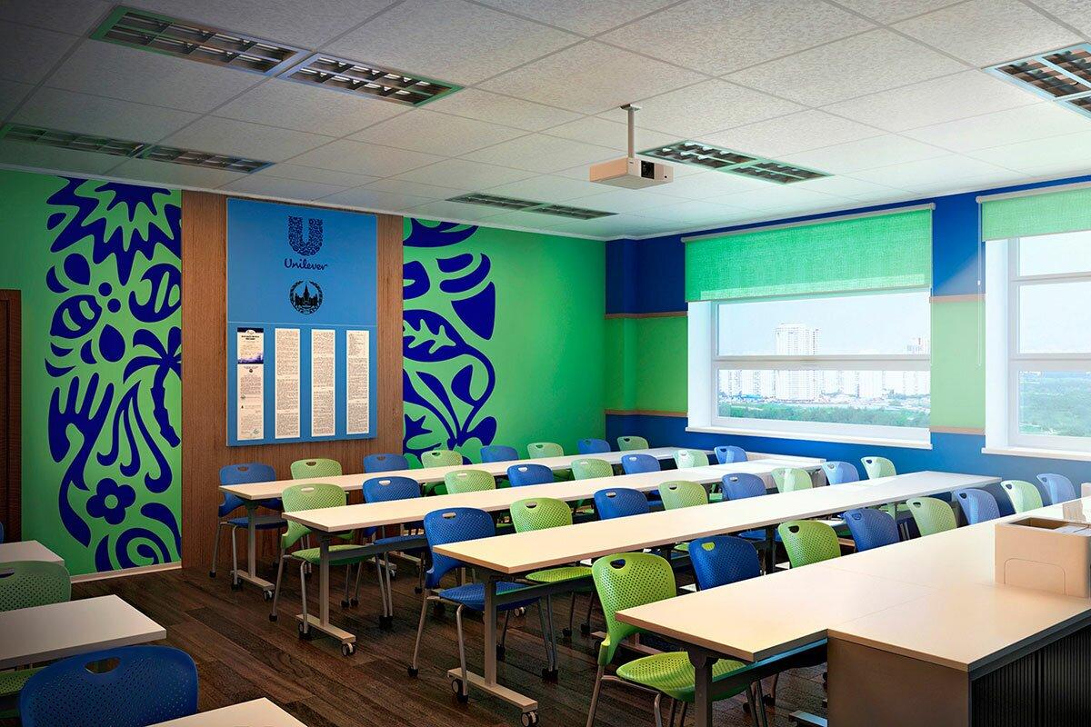 Дизайн интерьера аудитории МГУ, в современном стиле АБВ интериорс ABV Interiors Артем Болдырев