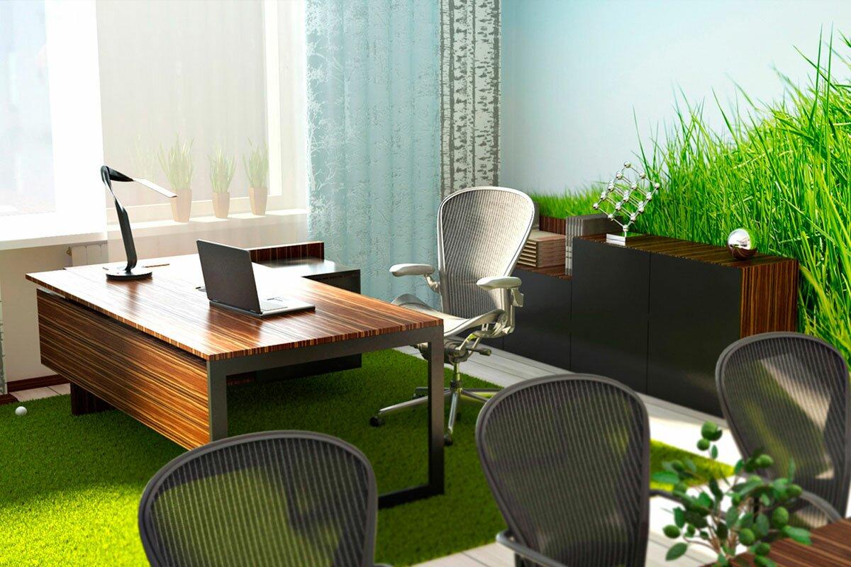 3d Концепция. Дизайн интерьера кабинета для Danone Зеленый офис Green office АБВ интериорс ABV Interiors Артем Болдырев