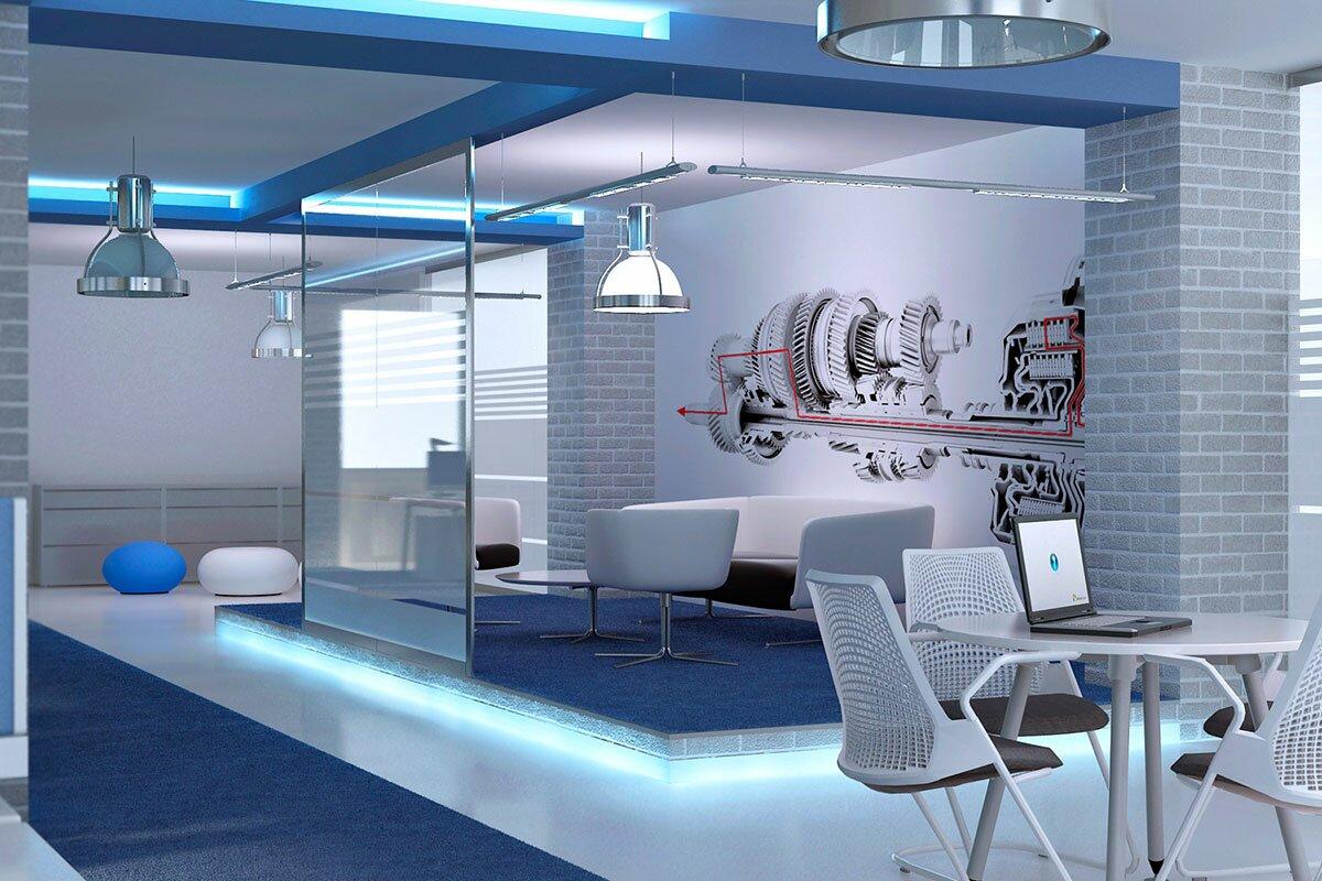 3d концепция. Дизайн интерьера офиса компании Исток современный стиль Openspace АБВ интериорс ABV Interiors Артем Болдырев